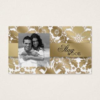 Stag & Doe Ticket Damask Floral Gold White