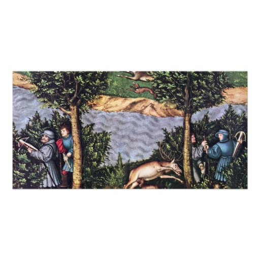 Stag Hunt Of The Elector Frederick The Wise Detail Personalized Photo Card