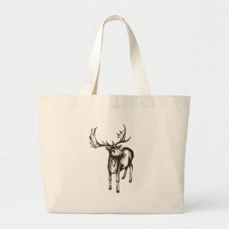 Stag illustration canvas bag