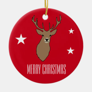Stag Merry Christmas Ornament Decoration