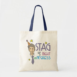 Stag Night Favors Budget Tote Bag