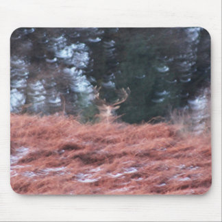 Stag on a hill mouse pad