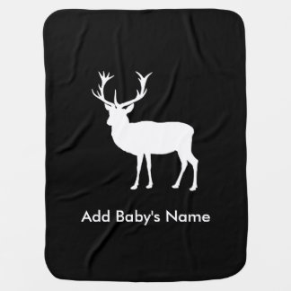 Stag Party - Elegant Drawing of a Stag Baby Blanket