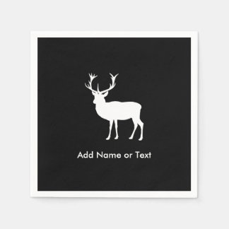 Stag Party - Elegant Drawing of a Stag Paper Napkin