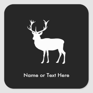 Stag Party - Elegant Drawing of a Stag Square Sticker