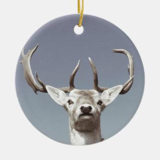 Stag prints stay Deer antlers Antlers Round Ceramic Decoration