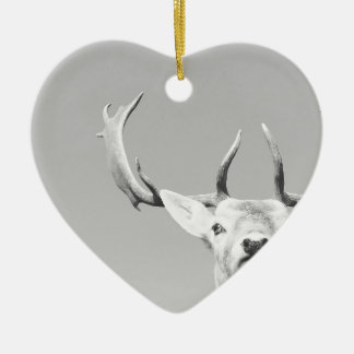 Stag prints stay Deer Ceramic Heart Decoration