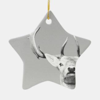 Stag prints stay Deer Ceramic Star Decoration