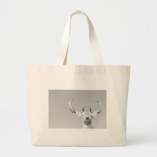 Stag prints stay Deer Large Tote Bag