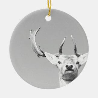 Stag prints stay Deer Round Ceramic Decoration