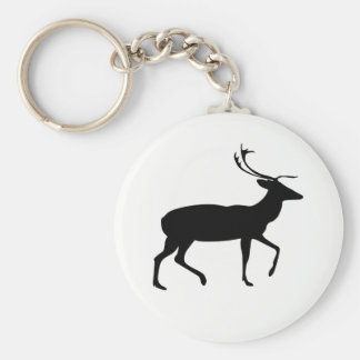 Stag Silhouette Key Ring