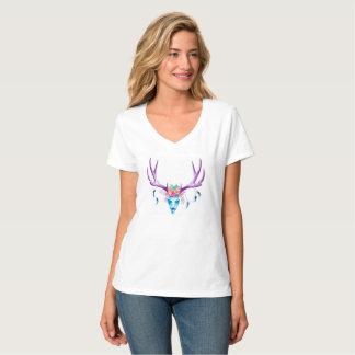 Stag Skull Women's V-neck T-Shirt
