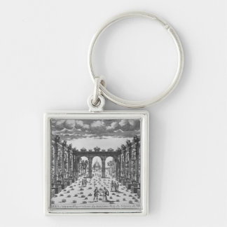 Stage by Giacomo Torelli  for 'Venere Gelosa' Silver-Colored Square Key Ring