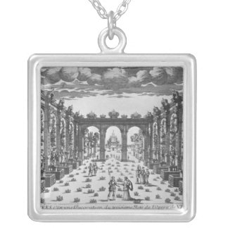Stage by Giacomo Torelli  for 'Venere Gelosa' Square Pendant Necklace