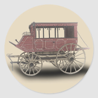 STAGE COACH CLASSIC ROUND STICKER