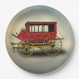 STAGE COACH PAPER PLATE