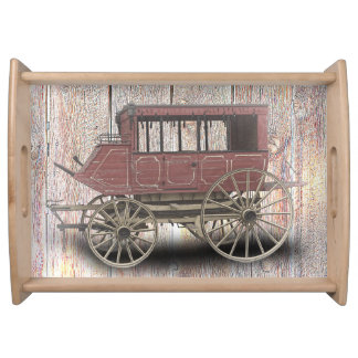 STAGE COACH SERVING TRAY