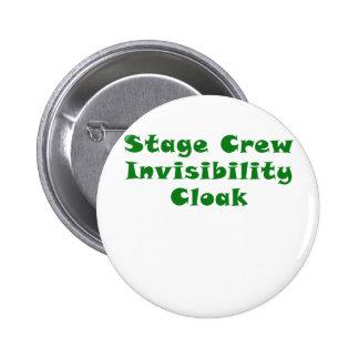 Stage Crew Invisibility Cloak 6 Cm Round Badge