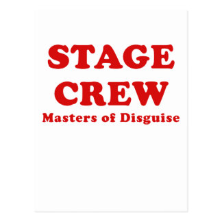 Stage Crew Masters of Disguise Postcard