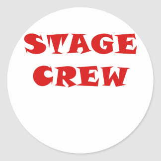 Stage Crew Round Sticker