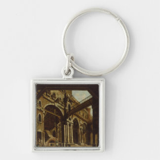 Stage Design for Act III of the Opera Silver-Colored Square Key Ring