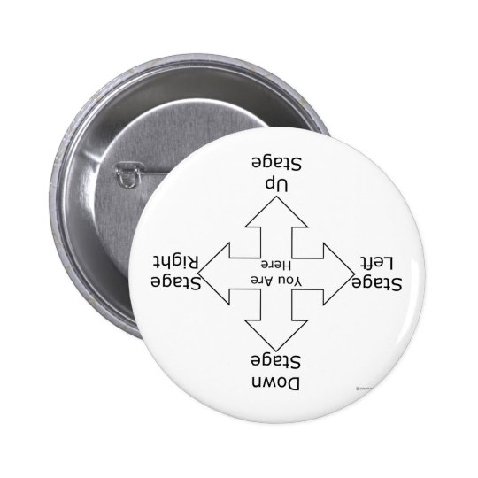 Stage Directions 6 Cm Round Badge