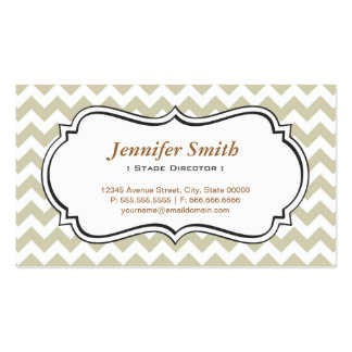 Stage Director - Chevron Simple Jasmine Pack Of Standard Business Cards