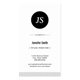 Stage Director - Clean Black White Pack Of Standard Business Cards