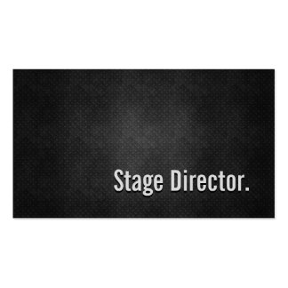 Stage Director Cool Black Metal Simplicity Business Card Templates