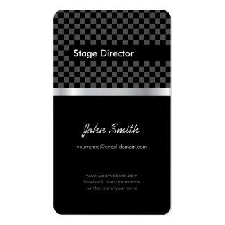 Stage Director - Elegant Black Chessboard Pack Of Standard Business Cards