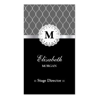 Stage Director - Elegant Black Lace Pattern Pack Of Standard Business Cards