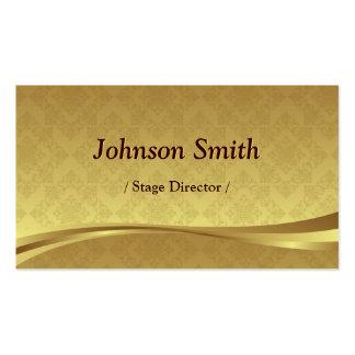 Stage Director - Elegant Gold Damask Pack Of Standard Business Cards
