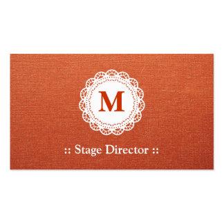 Stage Director - Elegant Lace Monogram Pack Of Standard Business Cards