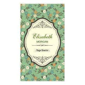 Stage Director - Elegant Vintage Floral Pack Of Standard Business Cards