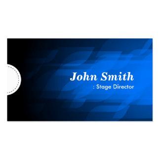 Stage Director - Modern Dark Blue Business Card Templates