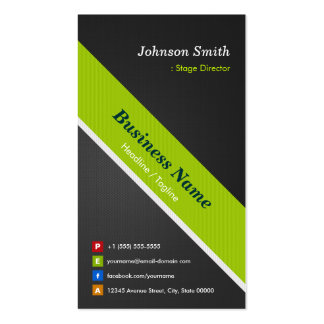 Stage Director - Premium Black and Green Pack Of Standard Business Cards