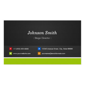 Stage Director - Professional and Premium Pack Of Standard Business Cards
