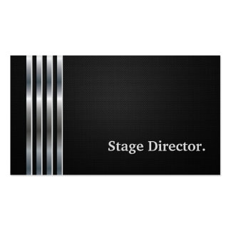Stage Director Professional Black Silver Pack Of Standard Business Cards