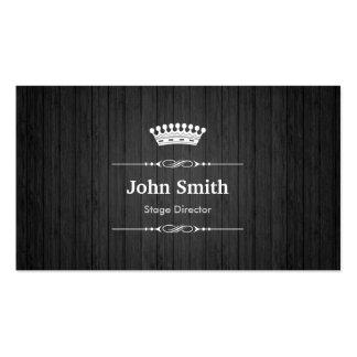 Stage Director Royal Black Wood Grain Pack Of Standard Business Cards