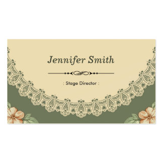 Stage Director - Vintage Chic Floral Pack Of Standard Business Cards