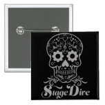 Stage Dive - Candy Skull Black Button