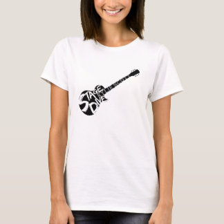 Stage Dive - Kylie Scott - Black Guitar T-Shirt