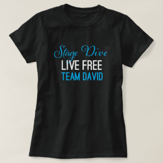 Stage Dive - Live Free blue on black T-Shirt