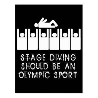 Stage Diving Postcard