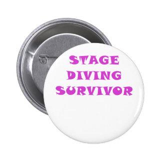 Stage Diving Survivor 6 Cm Round Badge