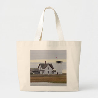 Stage Harbor Lighthouse Large Tote Bag