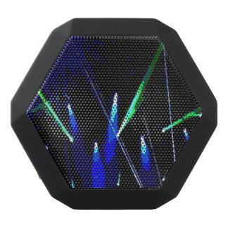 Stage Lights Blue/Green  Design Black Bluetooth Speaker