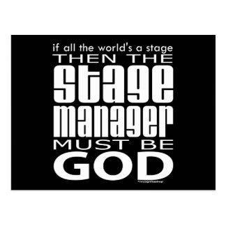 Stage Manager God Postcard