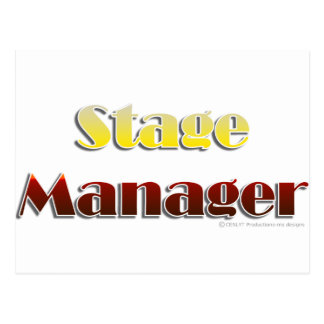Stage Manager (Text Only) Postcard