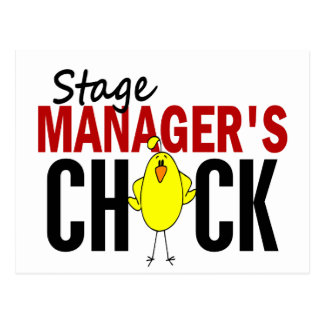 Stage Manager's Chick Postcard